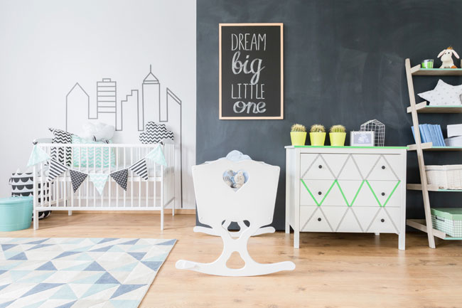 Nursery Room with Chalkboard for web