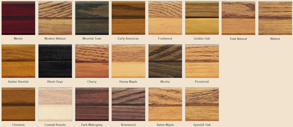 Zar interior wood stain colors